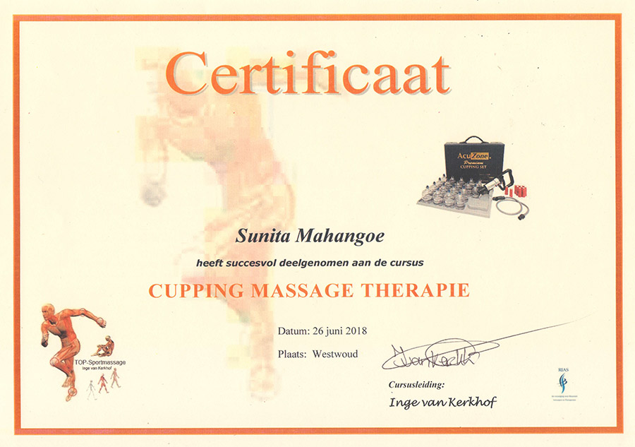 certificaat-cupping-massage-therapie-sunita